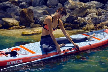 Jobe Lena 10.6 Yoga Inflatable Paddle Board Package Woman Aufblasbares Stand Up Paddle Board Komplettset Surf SUP – Bild 6