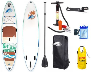 F2 I-SUP Aloha Turquise Stand Up Paddle Board Package Deal – Bild 1