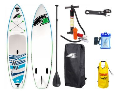 F2 I-SUP Wave Blue Stand Up Paddle Board Package Deal – Bild 1