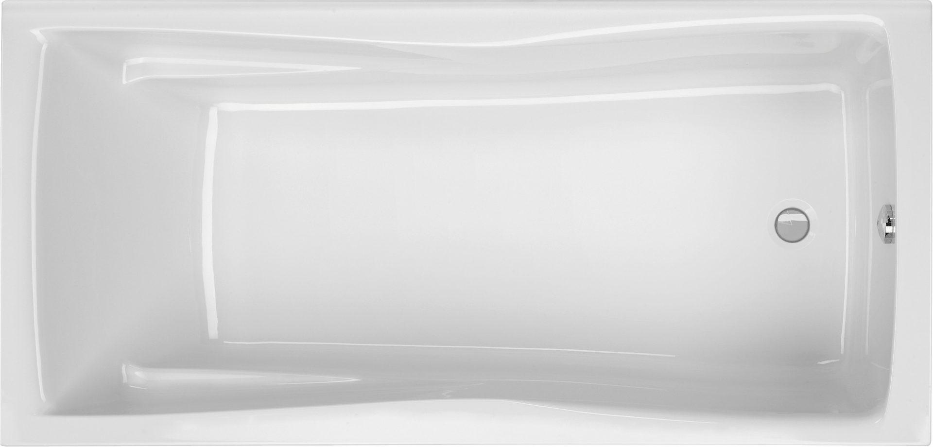 Badewanne rechteck 170 x 75 cm mit gro em innenma liegefl che for Asymmetrische badewanne 170