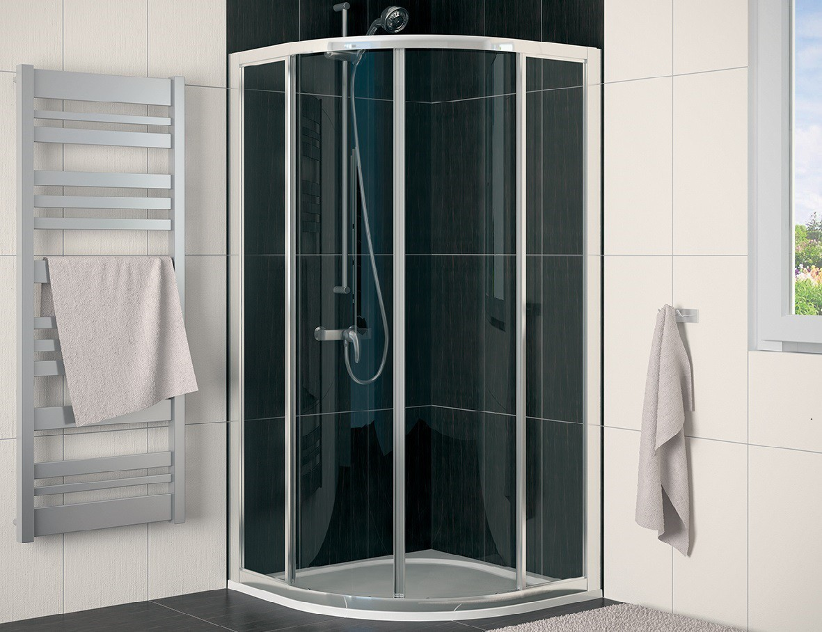 runddusche schiebet r 90 x 90 x 190 cm duschabtrennung dusche viertelkreis runddusche 90x90 cm. Black Bedroom Furniture Sets. Home Design Ideas