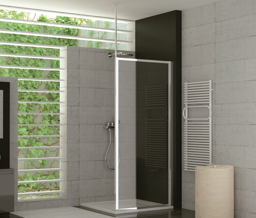 duschtrennwand glas feststehend 90 x 190 cm kunststoff kunstglas. Black Bedroom Furniture Sets. Home Design Ideas