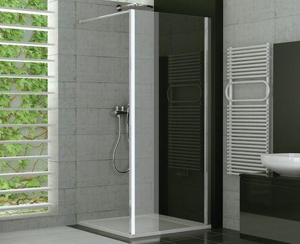 Duschtrennwand Glas feststehend 75 x 190 cm