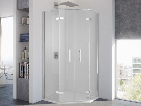 Dusche Fünfeck 90 x 90 x 200 cm