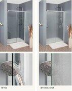 nischent r 80 cm dreht r mit festteil und rahmen f r duschtasse. Black Bedroom Furniture Sets. Home Design Ideas