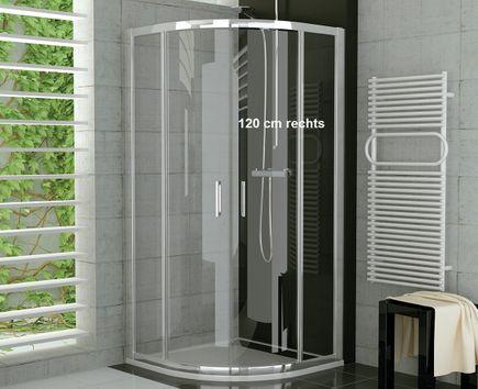 Viertelkreis Duschkabine 120 x 80 x 190 cm