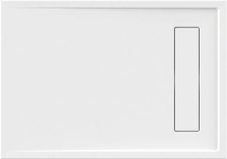 Duschwanne superflach 100 x 80 x 2,5 cm weiß