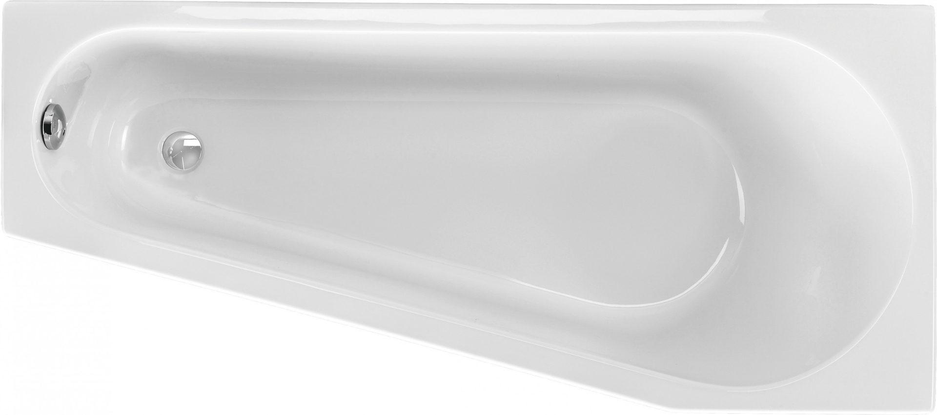 raumsparbadewanne 160 x 70 cm asymmetrisch trapez badewanne acryl. Black Bedroom Furniture Sets. Home Design Ideas