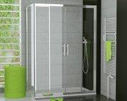 dusche schiebet r 4 teilig seitenwand ab 120 x 70 x 190 cm duschabtrennung dusche t r mit. Black Bedroom Furniture Sets. Home Design Ideas