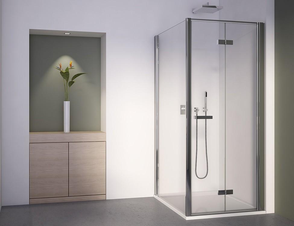dusche drehfaltt r seitenwand ab 70 x 70 x 195 cm duschabtrennung dusche t r mit seitenwand. Black Bedroom Furniture Sets. Home Design Ideas