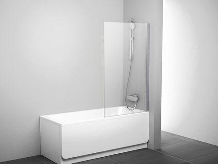 Duschwand feststehend 80 x 140 cm