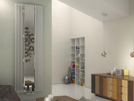 Röhrenheizkörper mit Spiegelfront 180 x 60 cm