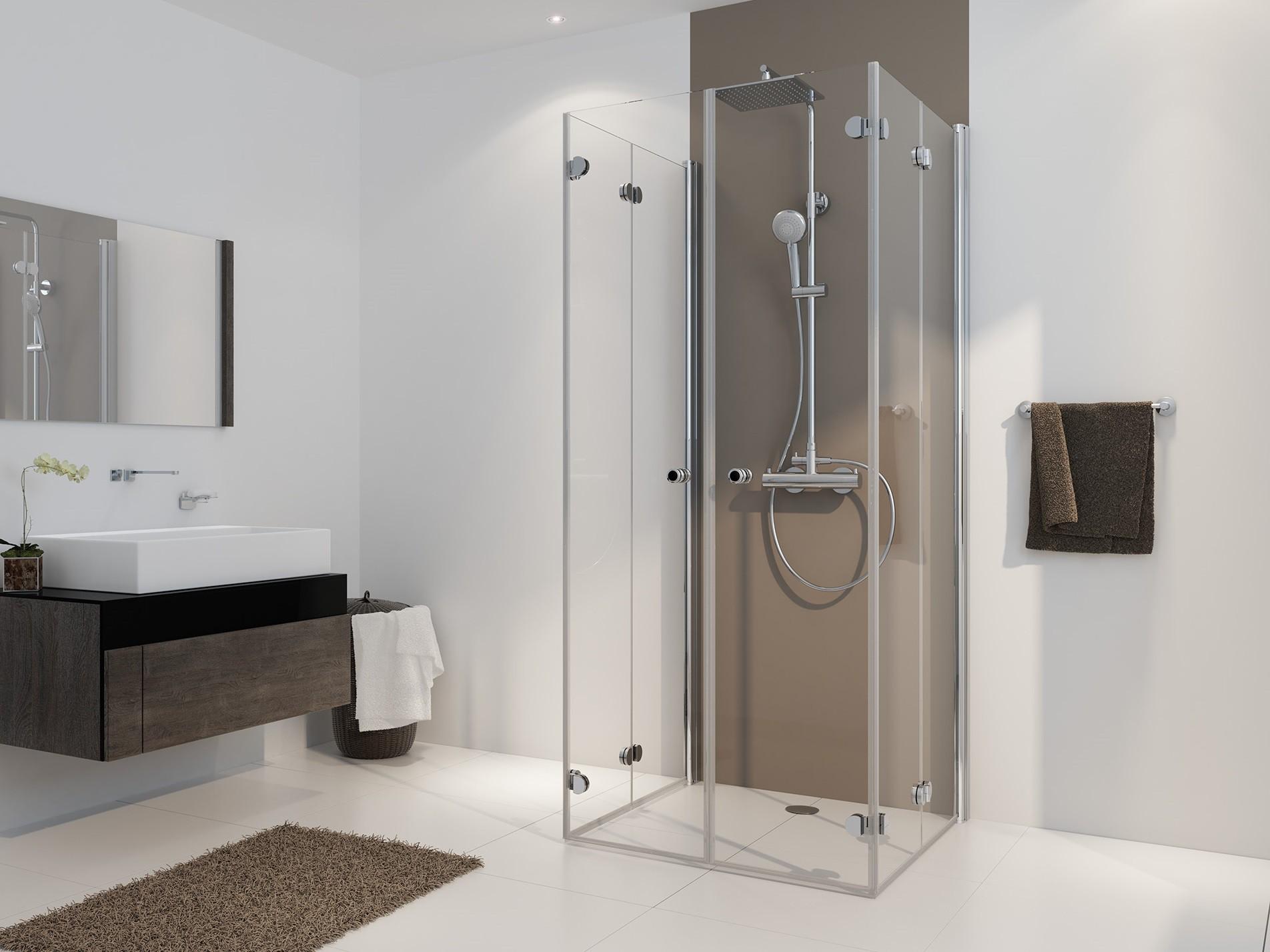 freistehende dusche home ideen. Black Bedroom Furniture Sets. Home Design Ideas