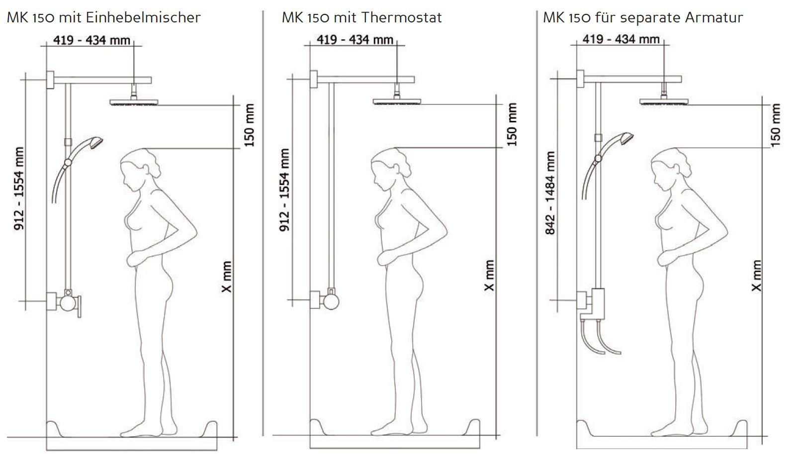 duschs ule mit brausethermostat armaturen brausearmaturen duschs ulen. Black Bedroom Furniture Sets. Home Design Ideas