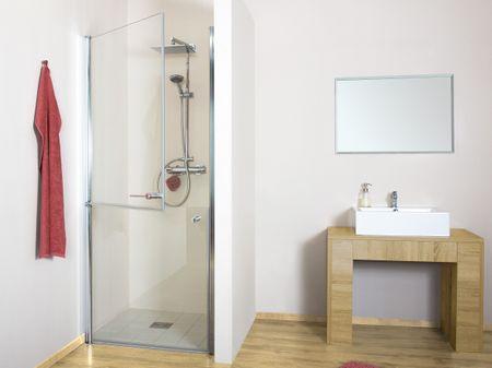 Duschtür horizontal geteilt 100 x 220 cm