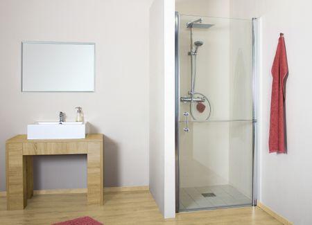 Duschtür horizontal geteilt 120 x 220 cm