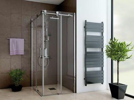 Dusche Eckeinstieg Schiebetür 120 x 120 x 220 cm