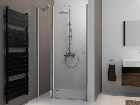 Duschtür mit Seitenteil 120 x 220 cm