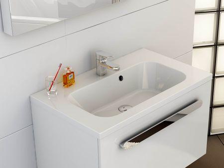 Mineralguss Waschtisch 800 x 490 x 160 mm