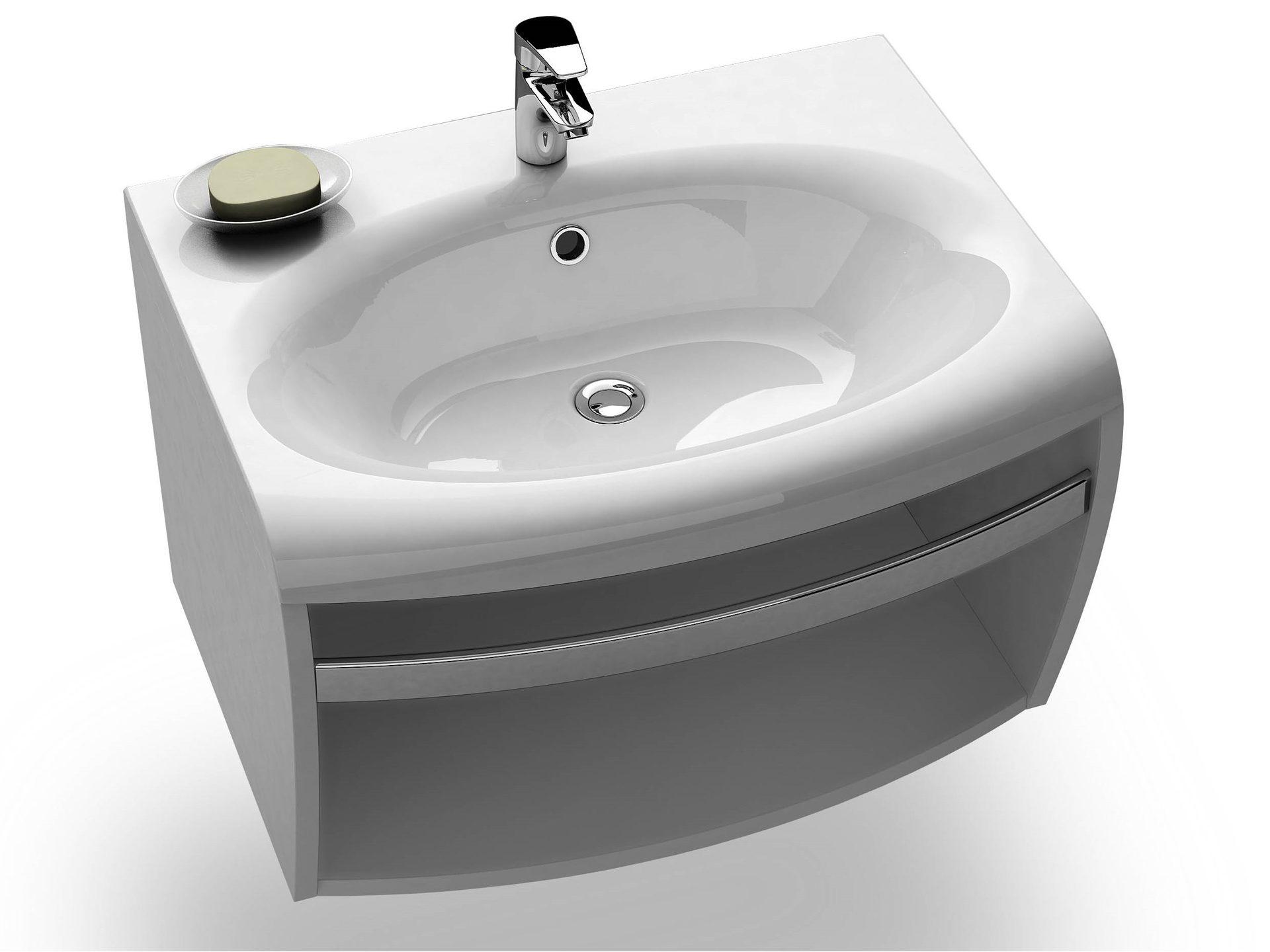 mineralguss waschbecken 70 x 55 x 17 cm waschtisch. Black Bedroom Furniture Sets. Home Design Ideas