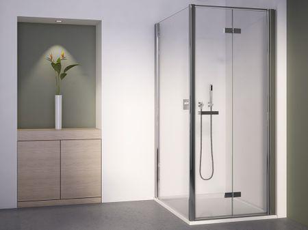 Dusche Drehfalttür Seitenwand 100 x 100 x 195 cm