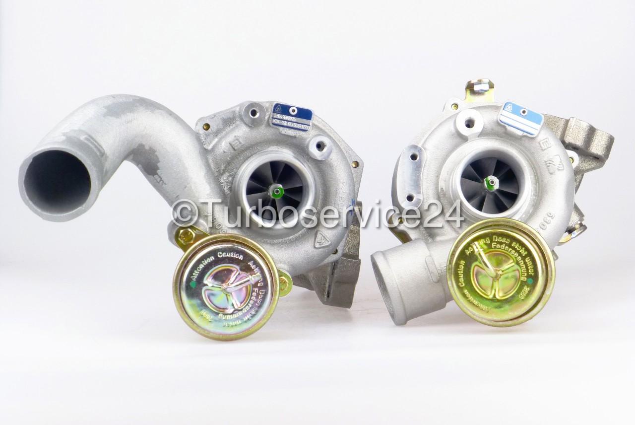 Neuer Original KKK / Borgwarner Bi-Turbolader für Audi A4 Avant RS4 Quattro 2.7 Bi-Turbo V6 / 280 KW, 380 PS / ASJ AZR 53049880026 53049880025