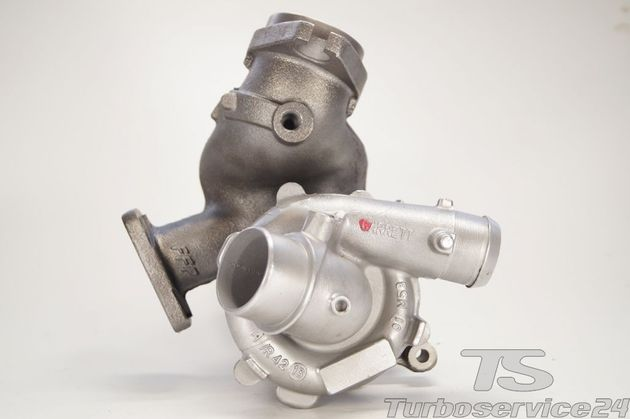 Re-manufactured Turbocharger for Citroen C8 2.2 HDI, Fiat Ulysse II 2.2 JTD, Lancia Phedra 2.2 JTD, Lancia Zeta 2.2 JTD, Peugeot 807 2.2 HDi with hole