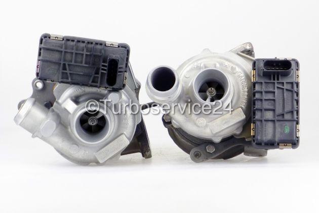 Bi-Turbolader (mit Ladedrucksteller) für Jaguar S Type 2.7D / Rechts + Links / 152 KW - 207 PS / AJ 726422 726423