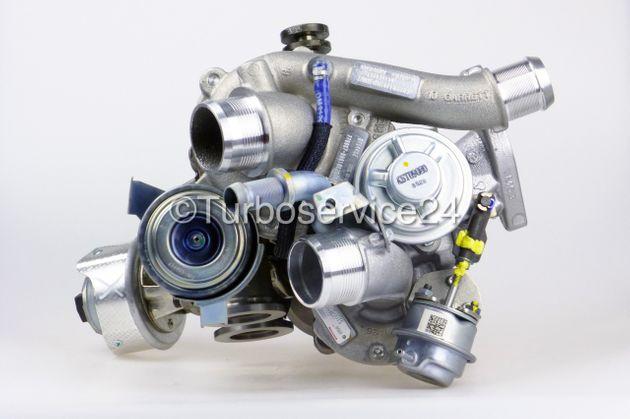 Neuer Original Garrett Bi-Turbolader für Citroen C5, C6, C8, Fiat Ulysse, Lancia Phedra, Peugeot 407, 607, 807 2.2 HDi JTD / 125 KW-170 PS / DW12B DW102BTED4 769393 769901 778088