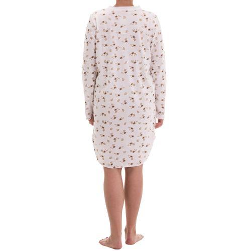 Zeitlos - Nachthemd Amelie langarm mit verzierter Permuttknopfleiste und Druck – Bild 7