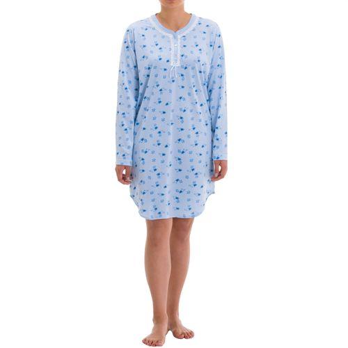 Zeitlos - Nachthemd Amelie langarm mit verzierter Permuttknopfleiste und Druck – Bild 3