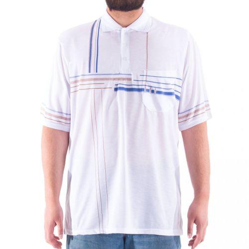 Romesa - Herren Polo Shirt  Große Größen 3XL-5XL dünne Streifendruck – Bild 13