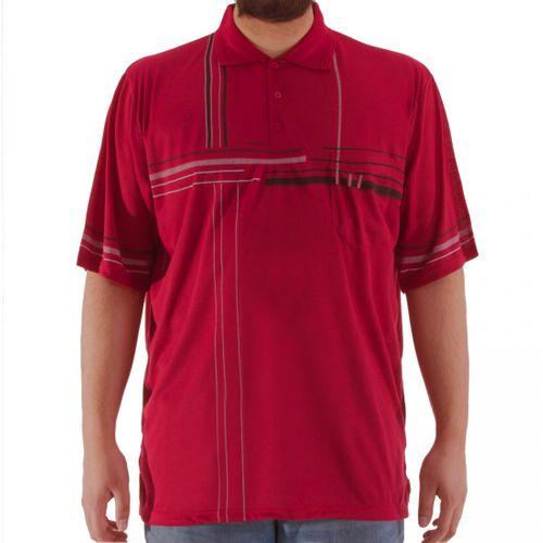 Romesa - Herren Polo Shirt  Große Größen 3XL-5XL dünne Streifendruck – Bild 3