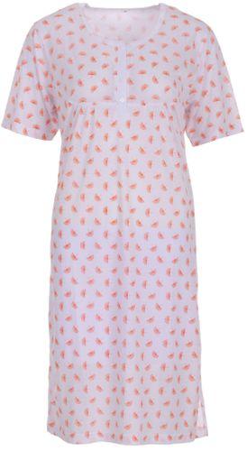 Lucky - Damen Nachthemd kurzarm mit Blumen Druck – Bild 1