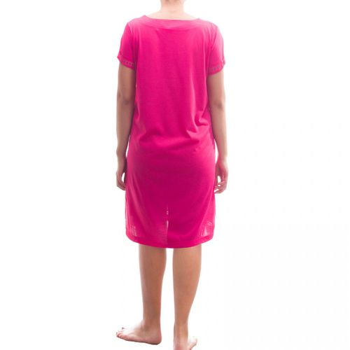 Lucky - kurzarm Nachthemd Schlafshirt mit Spitze – Bild 10