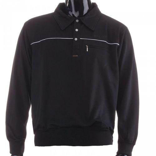 New York Herren Langarm Poloshirt Sweatshirt 100 % Co Baumwolle Polokragen – Bild 2