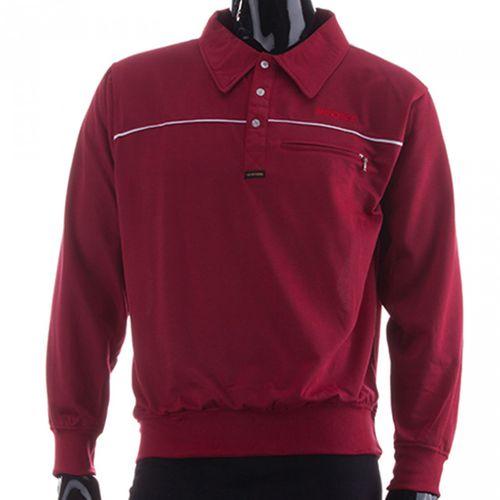New York Herren Langarm Poloshirt Sweatshirt 100 % Co Baumwolle Polokragen – Bild 3