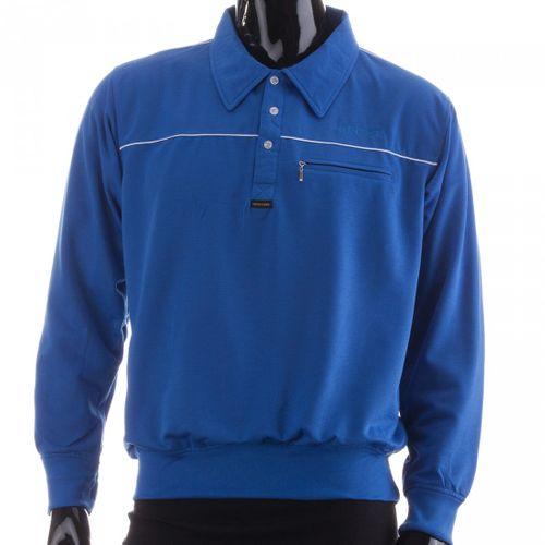 New York Herren Langarm Poloshirt Sweatshirt 100 % Co Baumwolle Polokragen – Bild 4