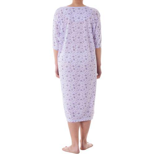Lucky - Nachthemd kurzarm mit Druckmix und Stickerei Große Größen 3XL-6XL Sommer Pastelltöne Jersey Nachtwäsche – Bild 6