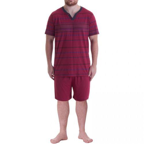 Henry Terre - Herren Shorty T-Shirt mit fester Knopfleiste und kurzer Hose – Bild 1