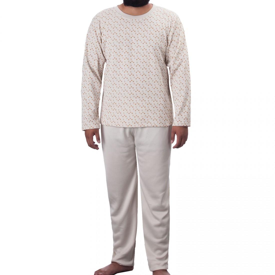 0d609989824052 Lucky - Herren Thermo Pyjama Schlafanzug im Set Rundhals angerauht ...