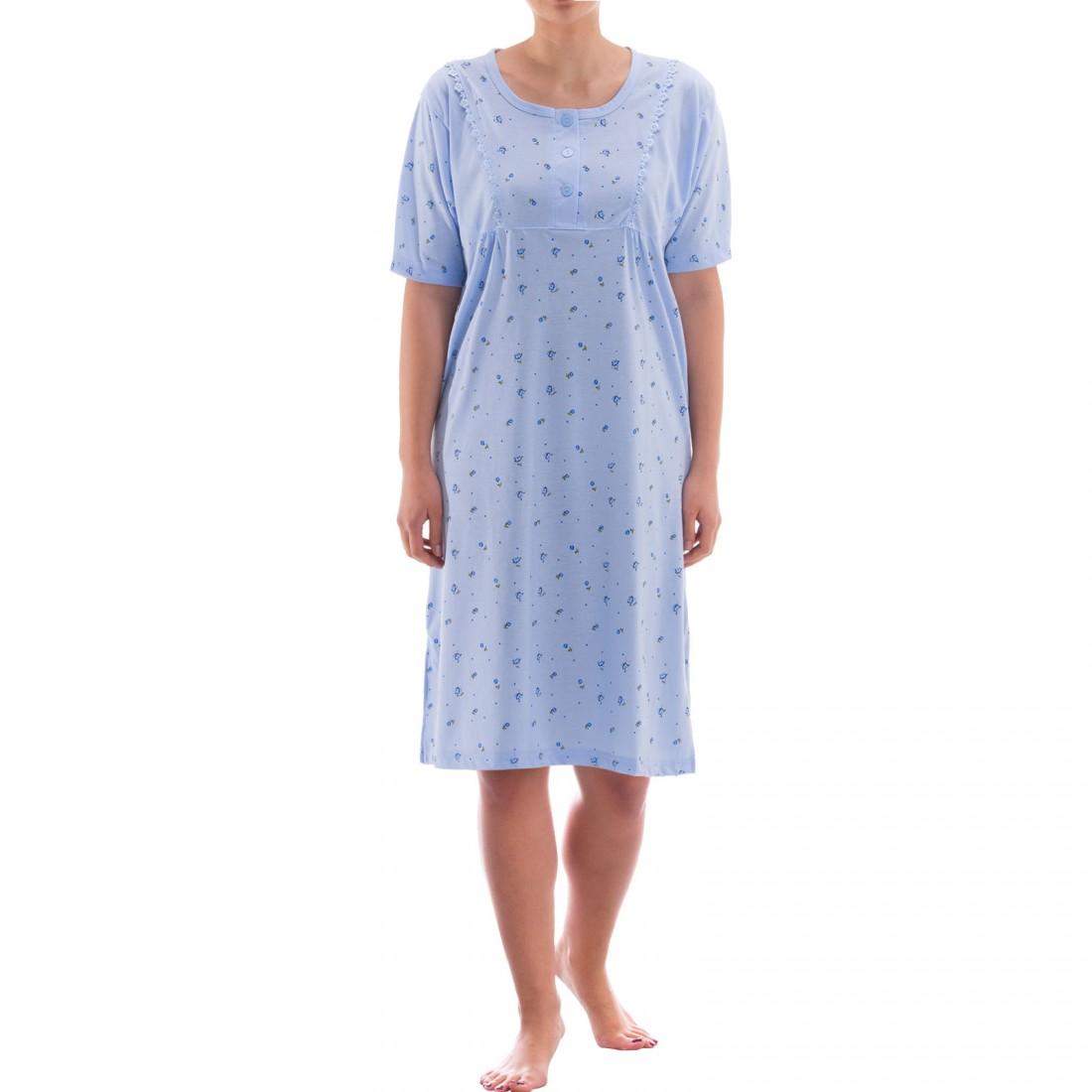 zeitlos nachthemd kurzarm mit spitze yasmin damen. Black Bedroom Furniture Sets. Home Design Ideas