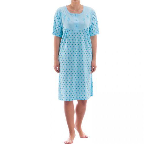 Zeitlos - Nachthemd kurzarm mit Rosendruck und Rosenstickerei – Bild 1