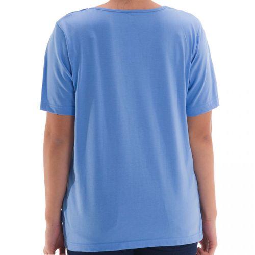 Zeitlos - T-Shirt mit Stein Applikationen am Kragen – Bild 2