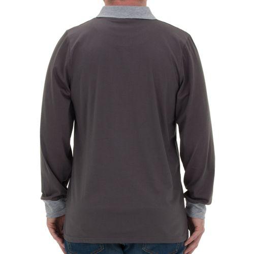 Henry Terre - Polo-Shirt in langarm mit Streifendruck und Bruststickerei – Bild 6