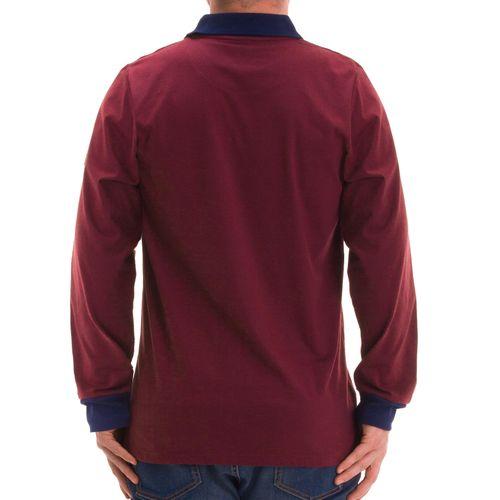 Henry Terre - Polo-Shirt in langarm mit Streifendruck und Bruststickerei – Bild 2