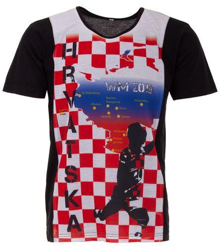 Lucky WM 2018 Kroatien Hrvatska Herren T-Shirt Fußball Weltmeisterschaft Trikot – Bild 1