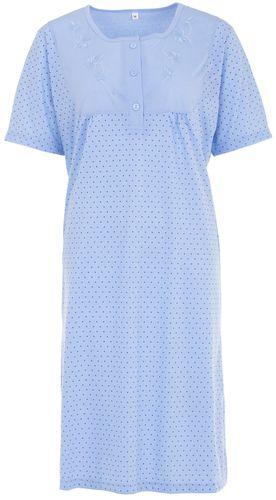 Lucky Nachthemd Damen Kurzarm Punkte mit Stickerei – Bild 5