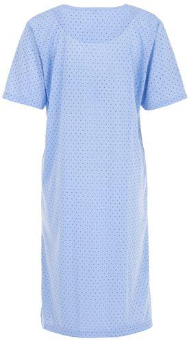 Lucky Nachthemd Damen Kurzarm Punkte mit Stickerei – Bild 6