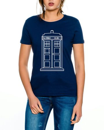 Doctor Line Who Box time police space dr tv Women T-Shirt – Bild 2